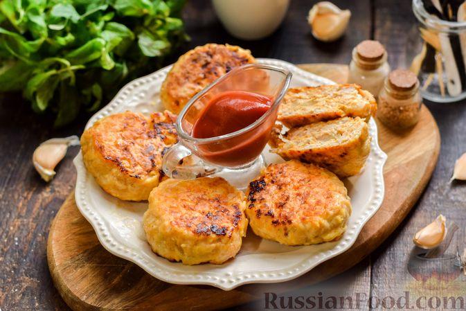Мясные котлеты с тыквой и плавленым сыром