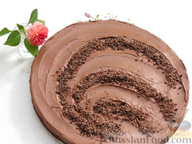 Шоколадный торт со сливочным сыром (без выпечки)