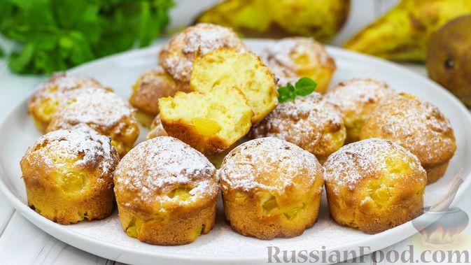 Творожные булочки с грушей