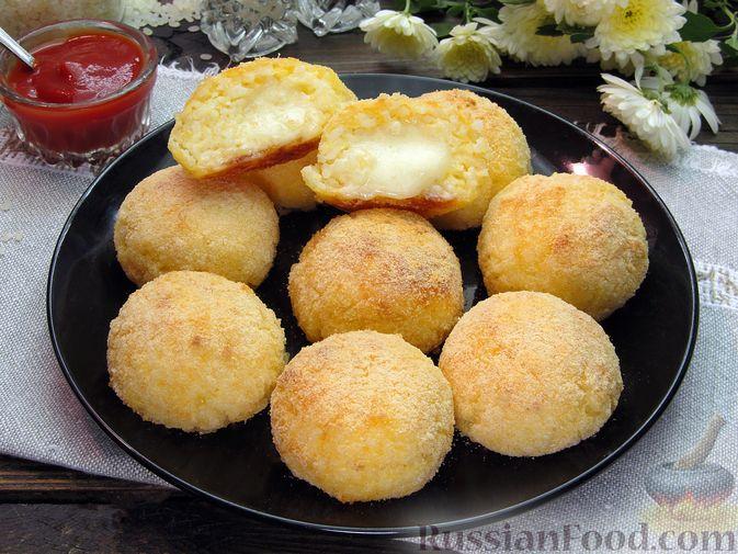 Рисовые крокеты с сыром (в духовке)