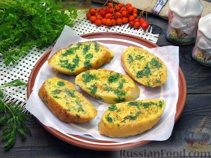 Яичные гренки с зеленью