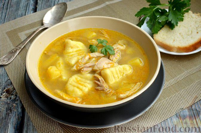 Куриный суп с картофельными ньокками