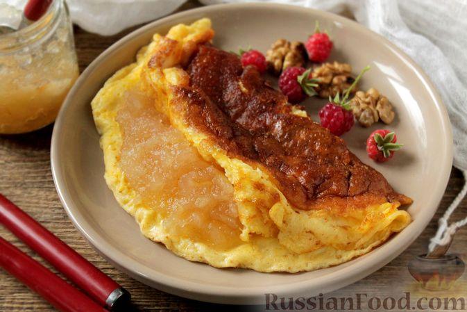 Творожный омлет с начинкой из варенья (в духовке)