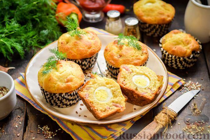 Маффины с беконом и перепелиными яйцами