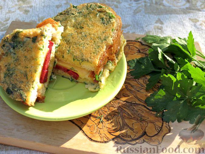 Горячие бутерброды (сэндвичи) с колбасой
