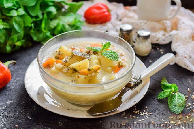 Рыбный суп из консервов, с пшеном