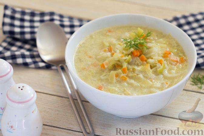 Суп-пюре из консервированного горошка с овощами и вермишелью