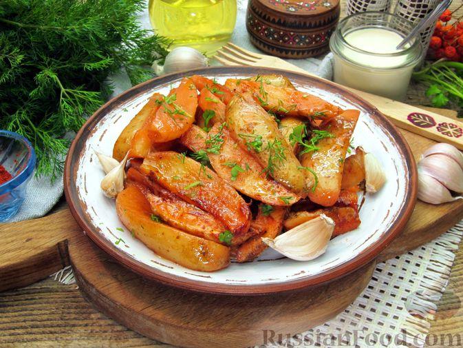Картошка по-деревенски, в микроволновке