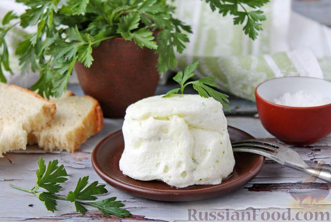 Белковый омлет на молоке (в микроволновке)