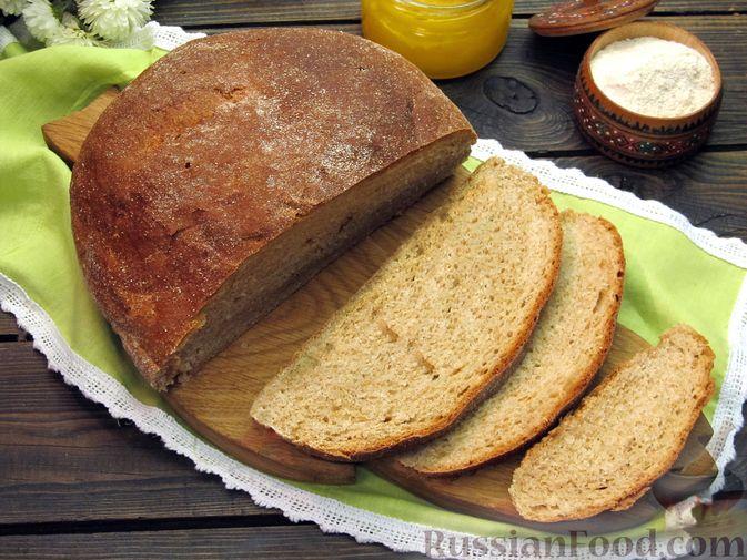 Цельнозерновой пшеничный хлеб с мёдом