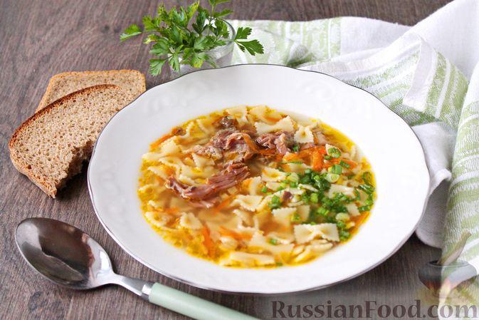 Суп с тушенкой и макаронами