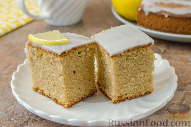 Лимонный пирог на гречневой муке
