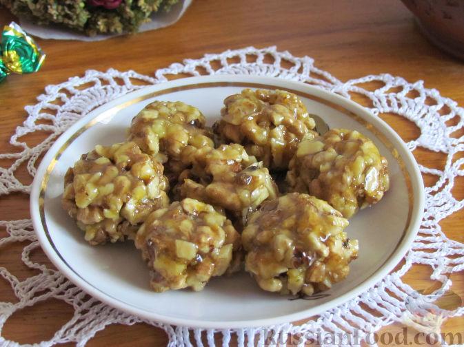 Лимонно-апельсиновые конфеты с орехами и медом