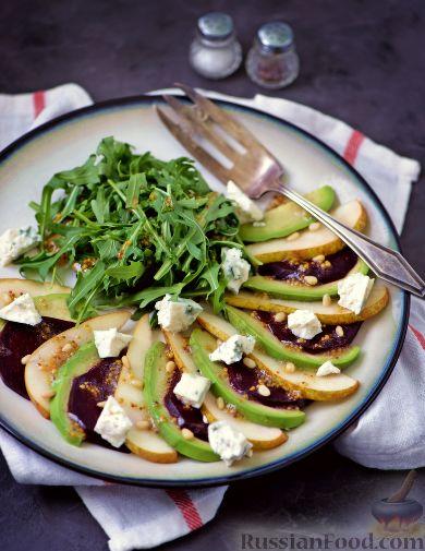 Салат из свеклы, груши и авокадо