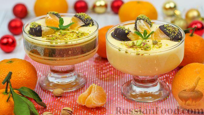 Мандариново-сливочный десерт