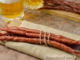 Закусочные колбаски (джерки) из свиного фарша