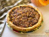 Открытый картофельный пирог с тыквенно-мясной начинкой
