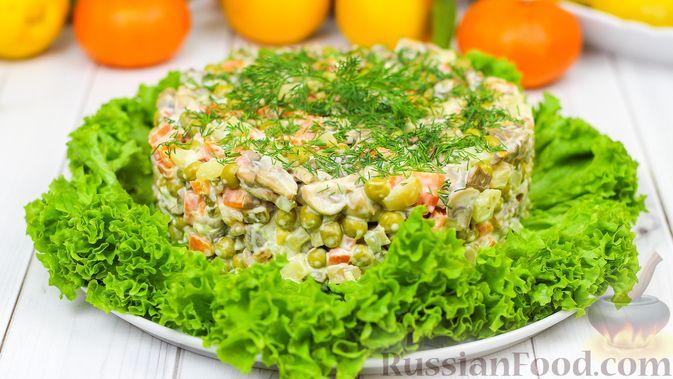 Салат с грибами (как оливье)