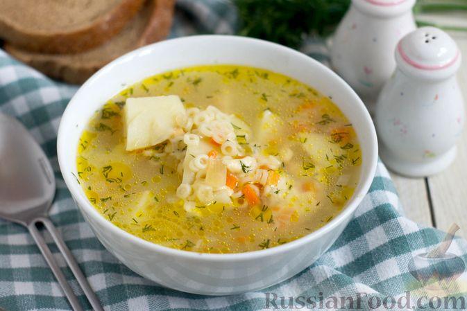 Суп с копченым сыром и вермишелью