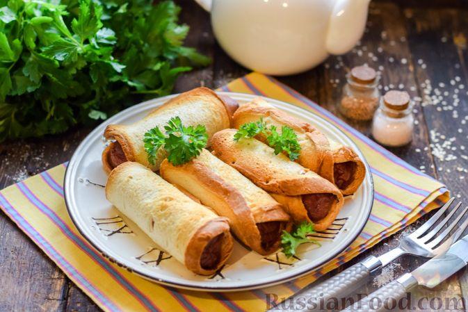 Сосиски в тостовом хлебе (в духовке)