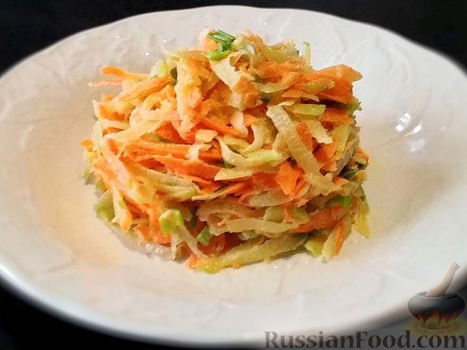 Салат из зелёной редьки и моркови
