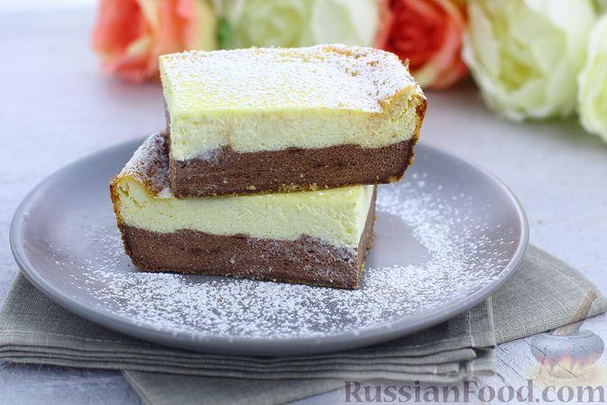 Творожная шоколадно-ванильная запеканка