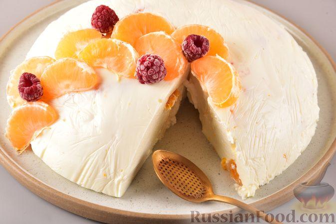 Творожное желе со сгущённым молоком и мандаринами