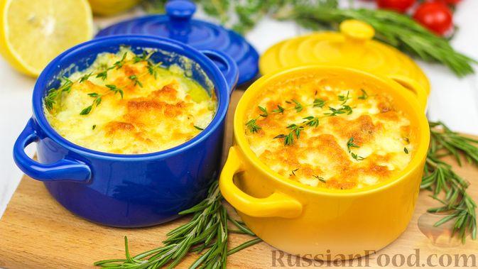 Треска под сливками и сыром (в духовке)