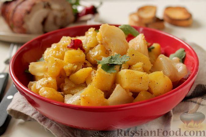 Картошка, запечённая с капустой