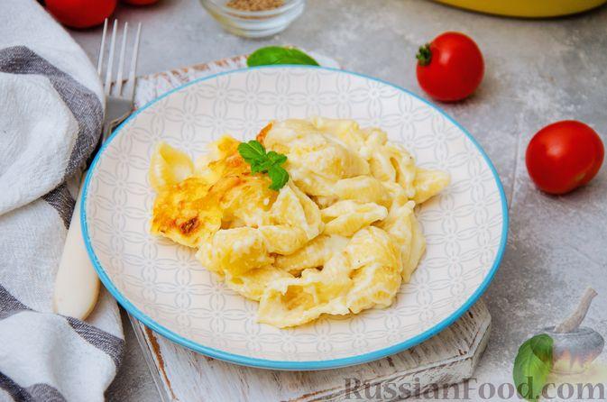 Запеканка из макарон с соусом бешамель и сыром