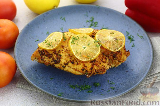 Куриное филе, запечённое с лимоном