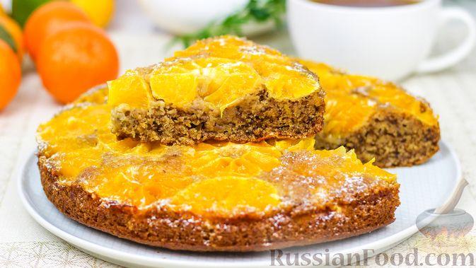 Миндальный пирог с мандаринами