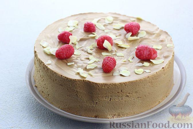 Шоколадный муссовый торт с бисквитом
