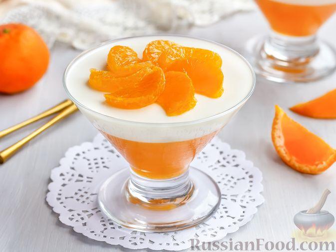 Сметанно-мандариновое желе