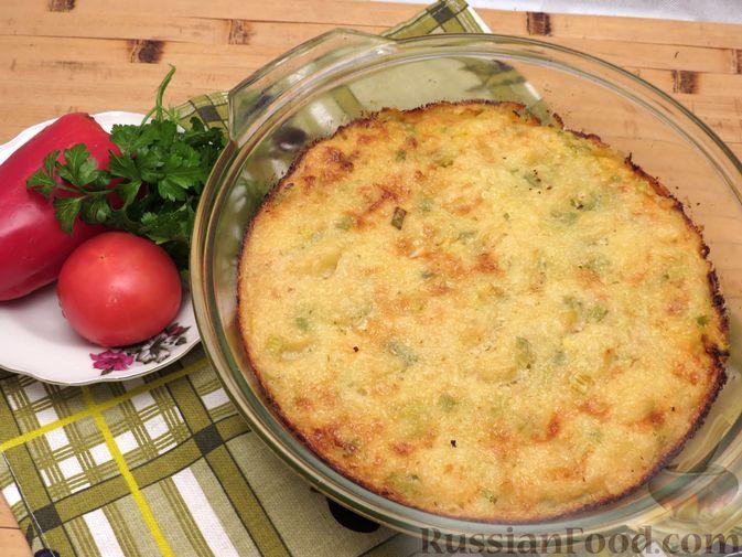 Картофельная запеканка с куриным фаршем и сельдереем