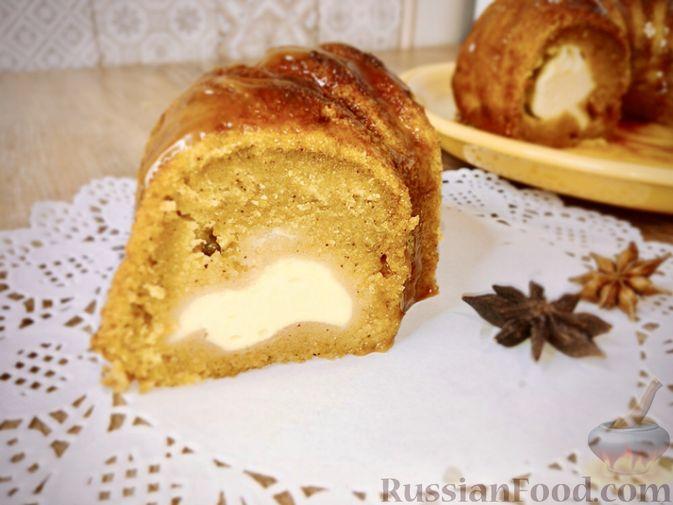 Тыквенный кекс с начинкой из сливочного сыра