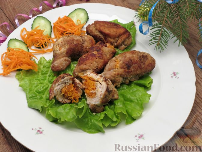 Рулеты из свинины с морковью по-корейски