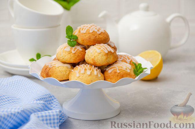Творожное печенье с мёдом, цедрой и сахарной глазурью