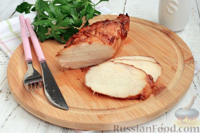 Пастрома из куриного филе в медово-пряной глазури