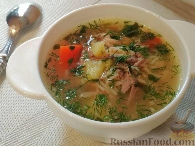 Суп из птицы с вермишелью