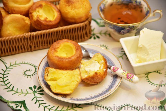 Полые кукурузно-сырные булочки на молоке