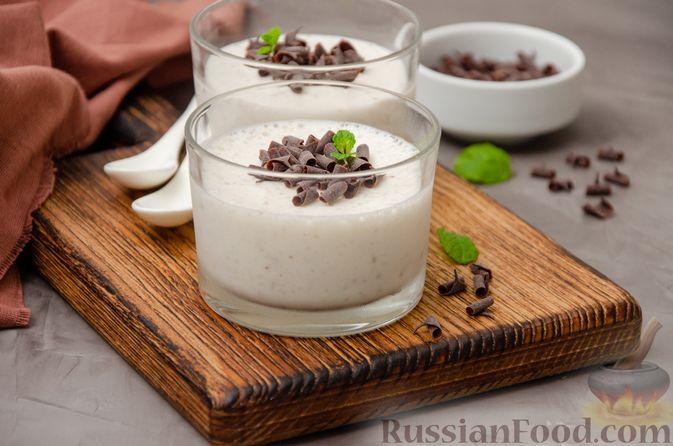 Сметанно-кефирное желе с шоколадом