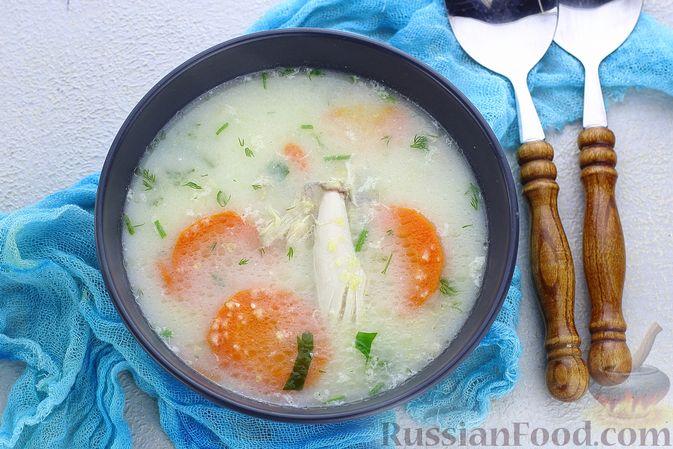 Куриный суп с кукурузной крупой и сливками
