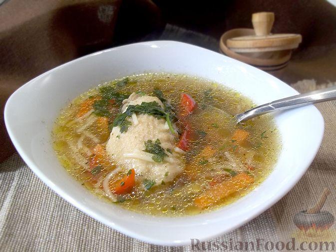 Куриный суп с квасом и вермишелью