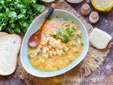 Суп с шампиньонами и пшеном