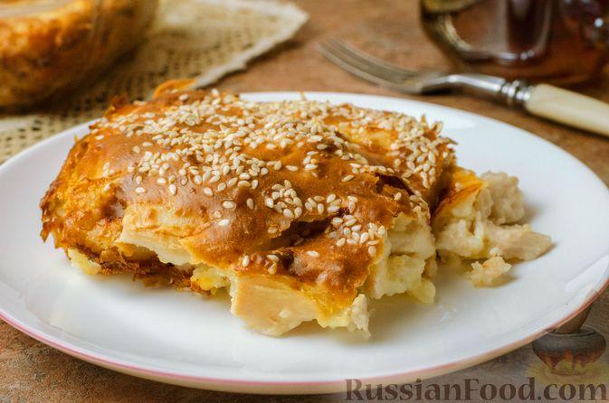 Запеканка-пирог из куриного филе с плавленым сыром
