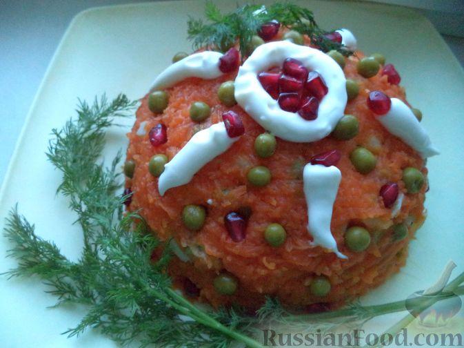 """Салат из кальмаров """"Почти оливье"""""""