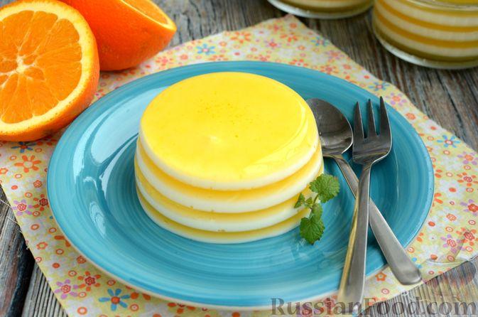 Молочно-апельсиновое желе