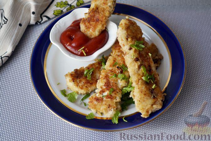 Куриные наггетсы в сырно-крекерной панировке