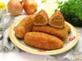 Куриные зразы с морковно-луковой начинкой